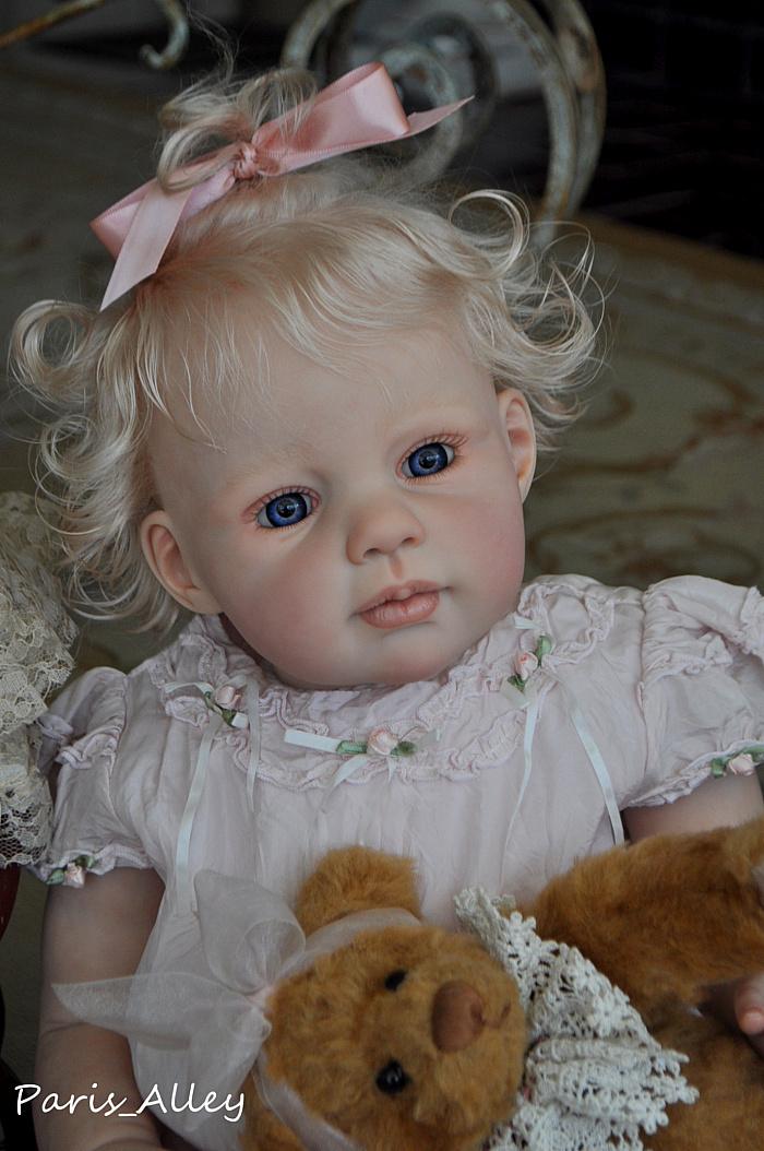 Sweet Toddler Reborn Louisa By Jannie De Lange Ooak Baby